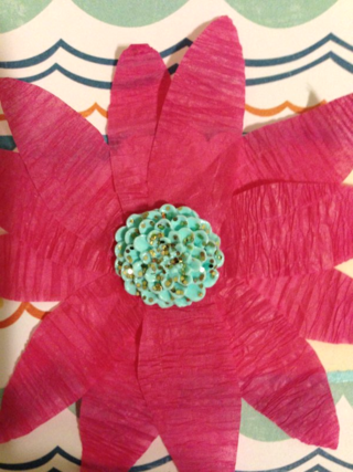 Crepe Paper Flower - Have a Nice K!